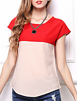 Недорогие -женская футболка - цвет блока на шее
