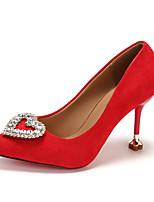 Недорогие -Жен. Полиуретан Весна Минимализм Обувь на каблуках На каблуке-рюмочке Заостренный носок Черный / Красный / Винный