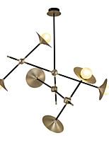 Недорогие -ZHISHU 6-Light геометрический / Оригинальные Люстры и лампы Рассеянное освещение Окрашенные отделки Металл Стекло Творчество, Новый дизайн 110-120Вольт / 220-240Вольт