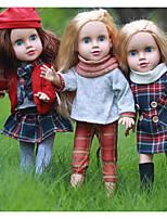 Недорогие -KIDDING Кукла для девочек Модная кукла Девочки 18 дюймовый Полный силикон для тела Силикон Винил - как живой Ручная Pабота Очаровательный Дети / подростки Детские Универсальные Игрушки Подарок