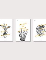 Недорогие -С картинкой Отпечатки на холсте - Модерн Цветочные мотивы / ботанический Modern