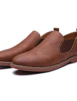 Недорогие -Муж. Комфортная обувь Полиуретан Весна На каждый день Мокасины и Свитер Нескользкий Темно-синий / Темно-русый / Темно-коричневый