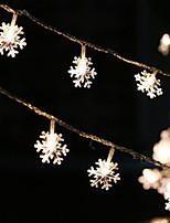 Недорогие -1m Гирлянды 10 светодиоды Тёплый белый Для вечеринок 5 V 1 комплект
