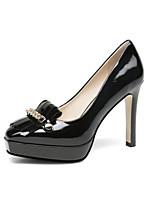 Недорогие -Жен. Наппа Leather Весна Обувь на каблуках На шпильке Черный / Светло-желтый