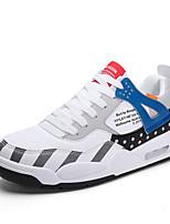 Недорогие -Муж. Комфортная обувь Полиуретан Весна Спортивные / На каждый день Кеды Амортизирующий Контрастных цветов Черно-белый / Синий