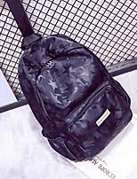 Недорогие -Жен. Мешки Нейлон рюкзак Молнии Цветочный принт Черный / Лиловый / Красный