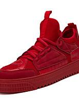 Недорогие -Муж. Комфортная обувь Полиуретан Весна На каждый день Кеды Дышащий Серый / Красный / Хаки