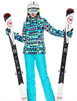Недорогие -High Experience Жен. Лыжная куртка и брюки Сохраняет тепло С защитой от ветра Дожденепроницаемый Катание на лыжах Сноубординг Зимние виды спорта Полиэфир Наборы одежды Одежда для катания на лыжах