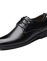 Недорогие -Муж. Официальная обувь Полиуретан Весна Деловые Туфли на шнуровке Доказательство износа Черный