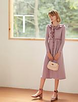 Недорогие -Жен. Винтаж / Элегантный стиль А-силуэт Платье Пэчворк Средней длины