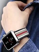 Недорогие -Ремешок для часов для Серия Apple Watch 5/4/3/2/1 Apple Классическая застежка Нейлон Повязка на запястье