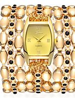 baratos -Geneva Mulheres Bracele Relógio Relógio de Pulso Quartzo Dourada 30 m Fofo Novo Design Relógio Casual Analógico Fashion Elegante - Branco Preto Rosa claro Um ano Ciclo de Vida da Bateria