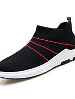 Недорогие -Муж. Комфортная обувь Tissage Volant Весна На каждый день Мокасины и Свитер Дышащий Черный / Черный / Красный