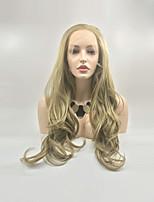 Недорогие -Синтетические кружевные передние парики Естественные кудри / Крупные кудри Золотистый Стрижка каскад Мед блондинку 130% Человека Плотность волос Искусственные волосы 24 дюймовый Жен. Женский