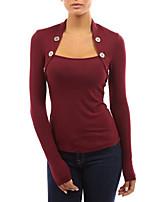 Недорогие -женская хлопковая футболка - однотонная подставка