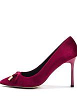 Недорогие -Жен. Синтетика Весна лето Обувь на каблуках На шпильке Заостренный носок Коричневый / Зеленый / Винный