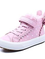 Недорогие -Девочки Обувь Кожа Зима Удобная обувь Кеды для Дети / Для подростков Белый / Розовый