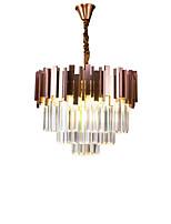 abordables -QIHengZhaoMing 9 lumières Lustre Lumière d'ambiance Plaqué Cristal 110-120V / 220-240V Blanc Crème