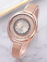 Недорогие -Жен. Наручные часы Кварцевый Розовое золото Панк Крупный циферблат Аналоговый Мода Steampunk - Красный Синий Розовый