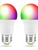 Недорогие -ZDM® 2pcs 4.5 W 400-450 lm E26 / E27 Умная LED лампа A19 3+6 Светодиодные бусины SMD 5050 Smart / Контроль APP / Bluetooth RGBWW 90-240 V