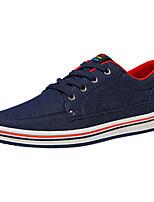 Недорогие -Муж. Комфортная обувь Полотно Зима На каждый день Кеды Нескользкий Темно-синий / Темно-серый / Красный