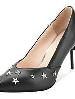 Недорогие -Жен. Полиуретан Весна На каждый день Обувь на каблуках На шпильке Заклепки Черный / Серебряный / Розовый