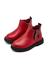 Недорогие -Девочки Обувь Микроволокно Зима Удобная обувь / Ботильоны Ботинки для Для подростков Черный / Красный