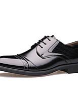 Недорогие -Муж. Кожаные ботинки Кожа Весна & осень Деловые / На каждый день Туфли на шнуровке Дышащий Черный / Коричневый