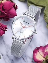 Недорогие -Жен. Наручные часы Кварцевый Серебристый металл Повседневные часы Аналоговый Цветной - Пурпурный Зеленый Розовый