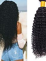 Недорогие -6 Связок Бразильские волосы Kinky Curly человеческие волосы Remy Головные уборы Человека ткет Волосы Сувениры для чаепития 8-28 дюймовый Естественный цвет Ткет человеческих волос