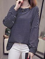 Недорогие -Женская негабаритная футболка азиатского размера - цвет блока на шее