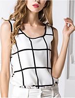 Недорогие -женская блузка - клетчатая шея