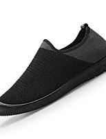 Недорогие -Муж. Комфортная обувь Эластичная ткань / Tissage Volant Весна На каждый день Мокасины и Свитер Нескользкий Контрастных цветов Черный / Серый
