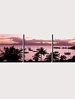 Недорогие -С картинкой Роликовые холсты Отпечатки на холсте - Пейзаж Море Modern