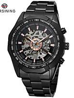 Недорогие -Муж. Нарядные часы Механические часы С автоподзаводом Черный Защита от влаги Повседневные часы Крупный циферблат Аналоговый Классика Мода - Белый Черный