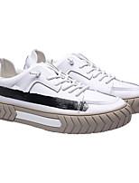 Недорогие -Муж. Комфортная обувь Кожа Весна Кеды Белый / Черный / Бежевый