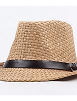 Недорогие -Универсальные Классический Соломенная шляпа Однотонный