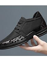 Недорогие -Муж. Комфортная обувь Овчина Весна & осень Кеды Черный / Черно-белый