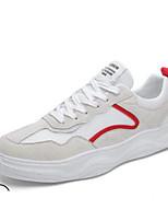 Недорогие -Муж. Комфортная обувь Сетка / Свиная кожа Весна & осень Кеды Белый / Черный / Серый