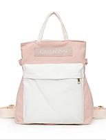 Недорогие -Жен. Мешки холст рюкзак Молнии Белый / Черный / Розовый