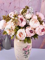 Недорогие -Искусственные Цветы 1 Филиал Классический европейский Свадебные цветы Пионы Букеты на стол