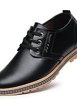 Недорогие -Муж. Комфортная обувь Микроволокно Весна Туфли на шнуровке Черный / Темно-русый