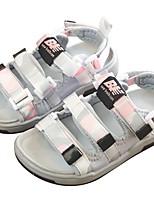 Недорогие -Девочки Обувь Полотно Лето Удобная обувь Сандалии для Дети / Для подростков Черный / Розовый