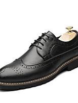 Недорогие -Муж. Комфортная обувь Микроволокно Весна & осень Туфли на шнуровке Черный / Темно-русый / Темно-коричневый