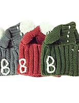 Недорогие -Собаки Коты Платки и шапочки Одежда для собак Простой Серый Красный Зеленый Акриловые волокна Костюм Назначение Осень Зима Универсальные Наколенники