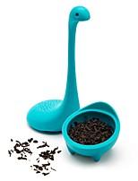 Недорогие -Силикон силикагель Милый Чайный Животный принт 1шт Ситечко для чая