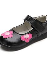 Недорогие -Девочки Обувь Искусственная кожа Весна & осень Оригинальная обувь На плокой подошве Для прогулок для Дети (1-4 лет) Черный / Красный / Розовый / Ботинки