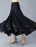 Недорогие -Бальные танцы Нижняя часть Жен. Учебный / Выступление Полиэстер Рюши / сборки Завышенная талия Юбки