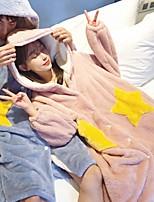 Недорогие -Взрослые Толстовка Пижамы кигуруми Звезда Цельные пижамы Коралловый Синий / Розовый / Чернильный синий Косплей Для Муж. и жен. Нижнее и ночное белье животных Мультфильм Фестиваль / праздник костюмы