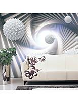 Недорогие -обои / фреска холст Облицовка стен - Клей требуется Геометрический принт / Ар деко / 3D